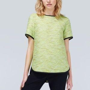 Aritzia Wilfred Green Textured Blouse Shirt